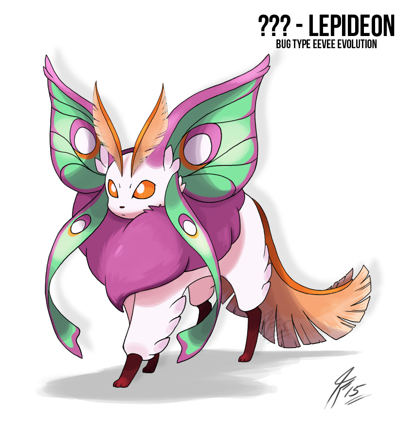 Lepideon the bug Type Eeveelution by TamarinFrog on DeviantArt