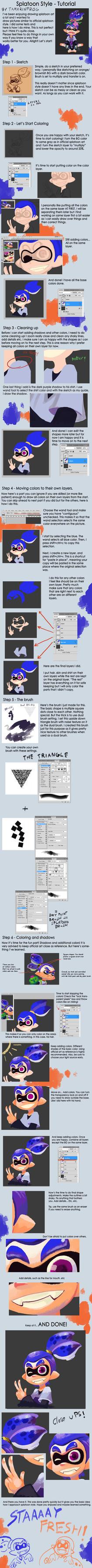 Splatoon Style Tutorial by TamarinFrog