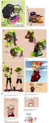 Splatoon Art Dump08 by TamarinFrog