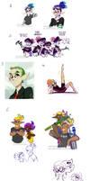 Splatoon Art Dump 10 by TamarinFrog