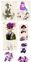 Splatoon Art Dump 12 Purple Special by TamarinFrog