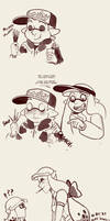 Pocky Games Round Two... Two by TamarinFrog