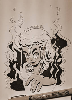 Inktober 2018 Day 19: Scorched