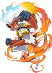 Infernape Used Flare Blitz by TamarinFrog