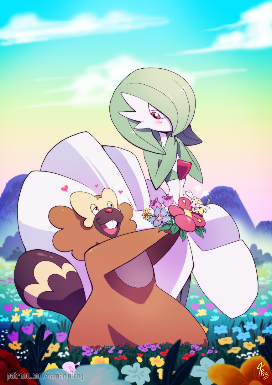 Commission Pretty Flowers For Pretty Pokemon By Tamarinfrog On Deviantart