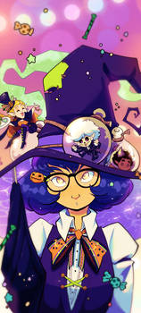 Witch's Little Helpers - Phone Wallpaper Ver.