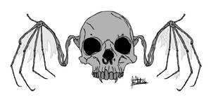 Real Skull Bat
