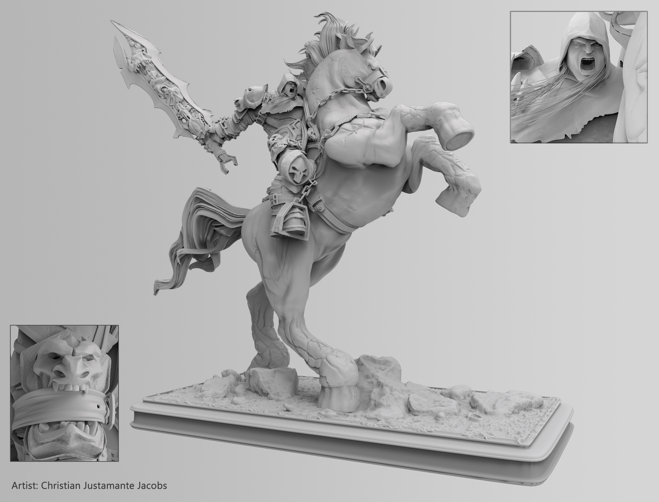 Darksaiders Horseman Modelling by SUPERMOUSE81