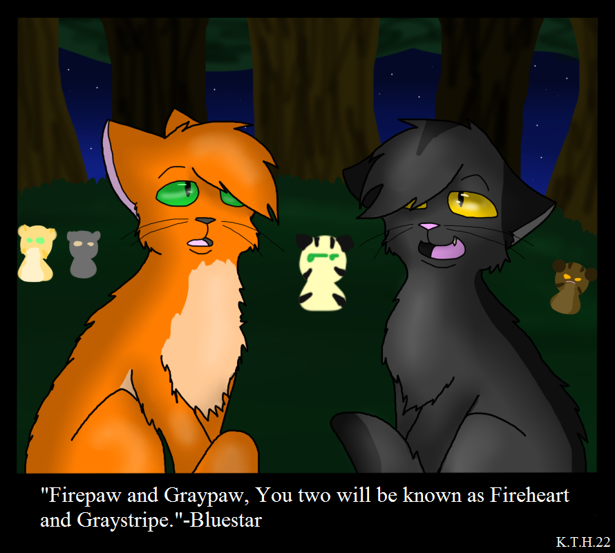 Into The Wild Graypaw Warriors: Firepaw And Graypaw's Warrior Ceremony By