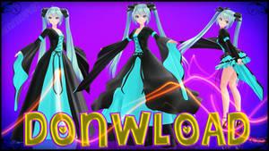 MMD TDA Hatsune Miku Medieval Dress Pack Donwload