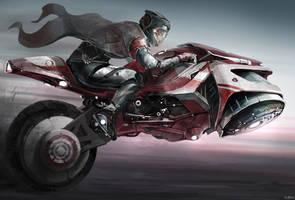 semi-hover bike by Min-Nguen