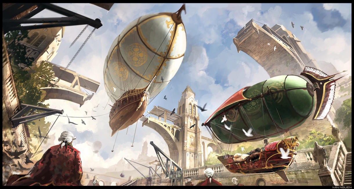 Airships by Min-Nguen