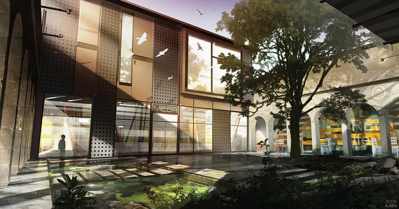 Architecture rendering by Min-Nguen
