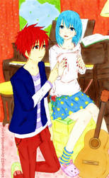 Akashi x Fem Kuroko :Fate and Destiny by kimikun23