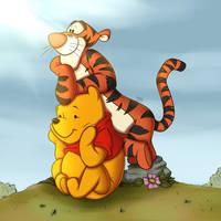 Pooh and Tigger (Contest Entry) by Tsitra09