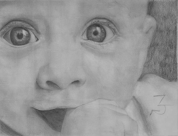 Baby Portrait Drawing by Z-Ka on DeviantArt