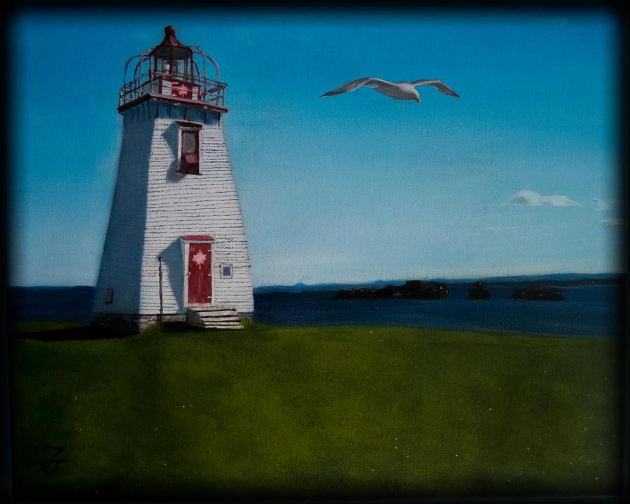 Light House Oil Painting by Z-Ka