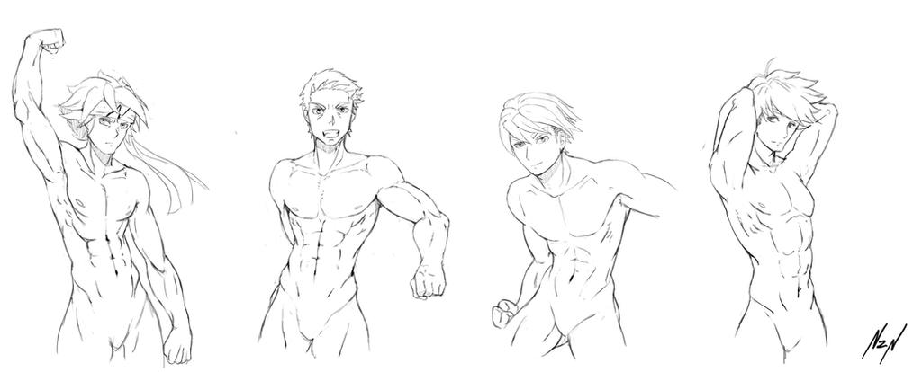 Tutorial Body Men Anatomy Poses On Drawing Tutorial Devian Card