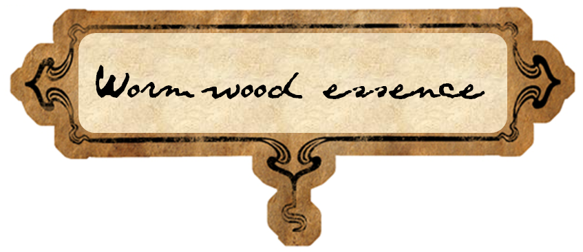 Potion Label: Wormwood Essence by MetamorphmagusSphinx on DeviantArt