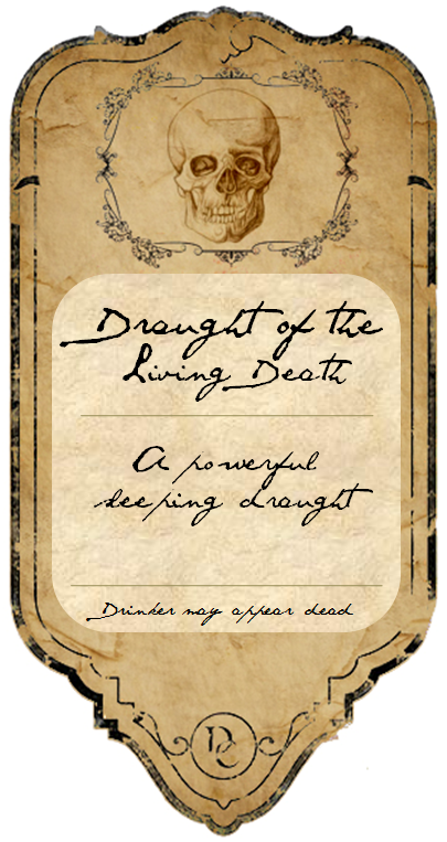 Abra Body Shop >> Potion Label: Draught of the Living Death by MetamorphmagusSphinx on DeviantArt