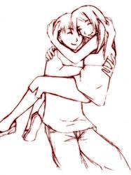 hug by Sesshoumaru-Sama