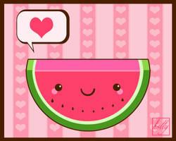watermelon by Miss-Glitter