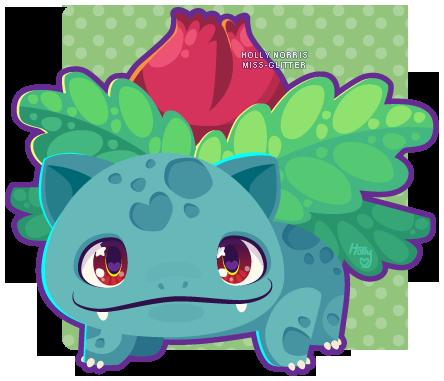 002 Ivysaur by Miss-Glitter