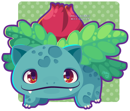 002 Ivysaur by Miss-Glitter