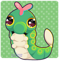 010 Caterpie by Miss-Glitter