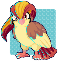 018 Pidgeot by Miss-Glitter