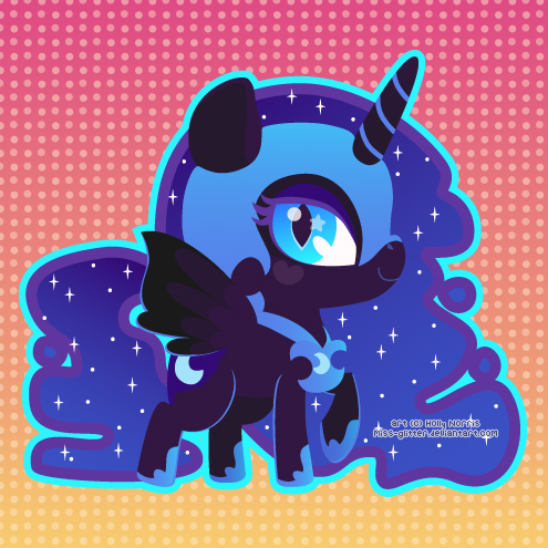Nightmare Moon by Miss-Glitter