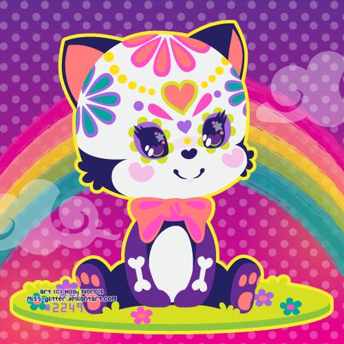 skull kitty by Miss-Glitter