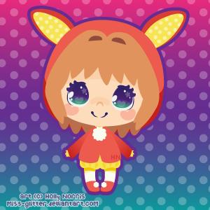 Sakura - Snow Bunny Costume by Miss-Glitter