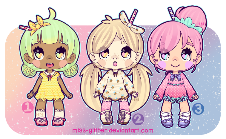 Adopts~Milkshakes by Miss-Glitter
