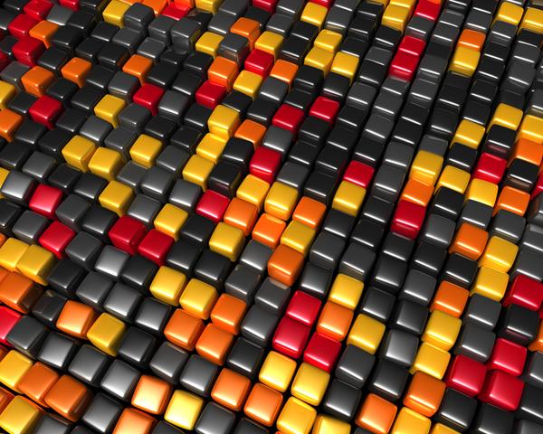 Wallpaper::Ubuntu Cubes by QOAL