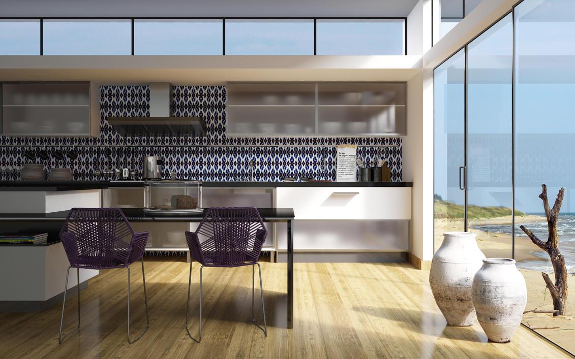 Glass Kitchen Swing Door