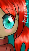 Ocean Eyes and Red Hair by SakuraCrystalKatana