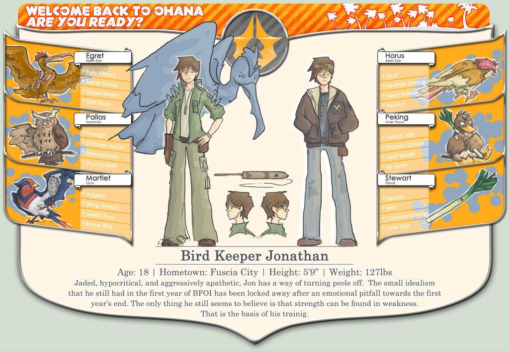 BFOI Y2: Bird Keeper Jon by etesian