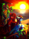 At awe at the sunsets glow (collabration) by SummersStarsEpos643
