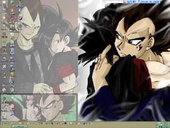 Beji and Kaka Desktop by pixelgoddess