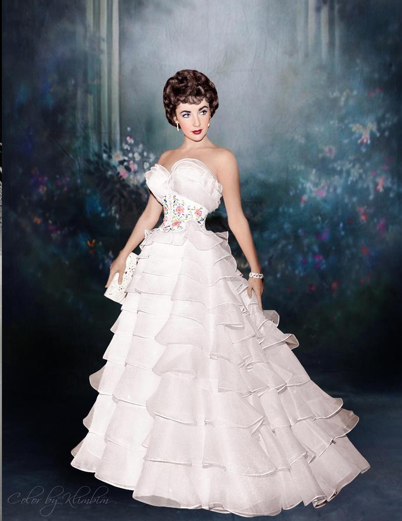 Elizabeth taylor by klimbims on deviantart for Elizabeth taylor wedding dress