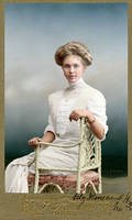Portrait of a young woman - Denmark - 1911