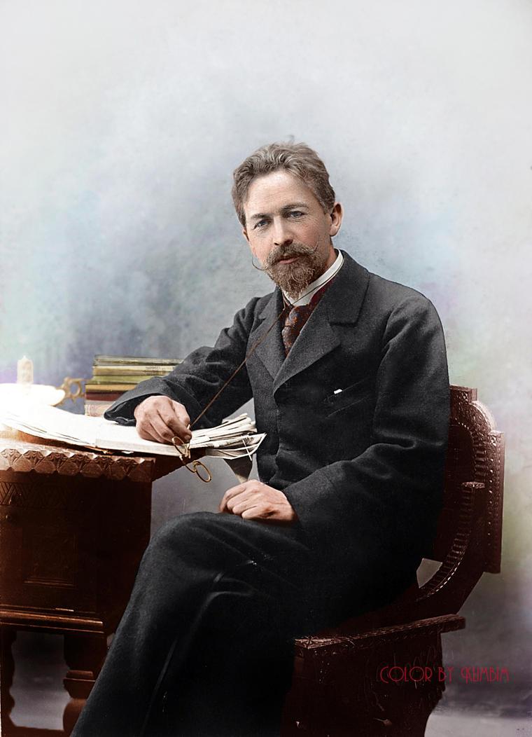 Anton Chekhov, 1889 by klimbims