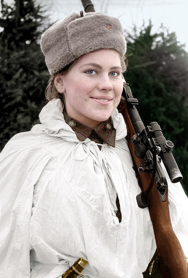 Snipers Roza_shanina__a_soviet_sniper_during_world_war_ii_by_klimbims-d8pk8q0