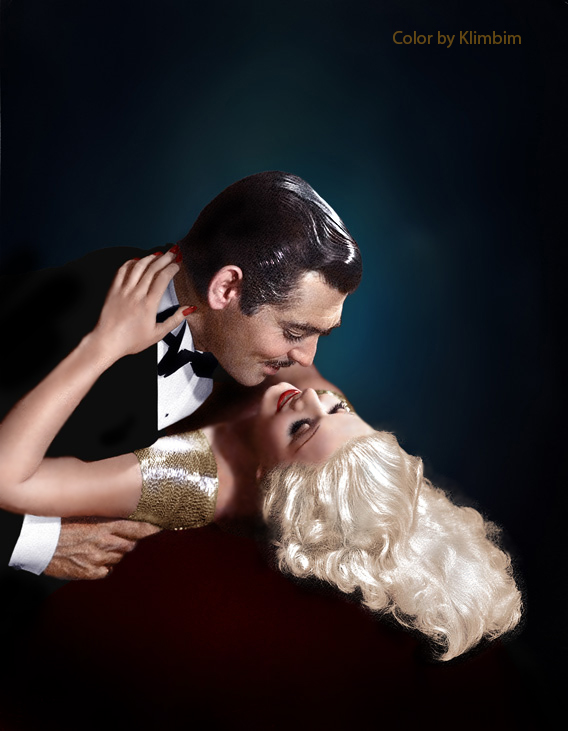 Jean Harlow and Clark Gable by klimbims
