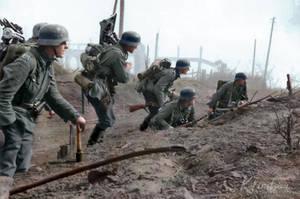 German troops in the suburb of Stalingrad 1942