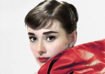 Audrey Hepburn 1957 by klimbims