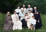 Leo Tolstoy and family, 1908