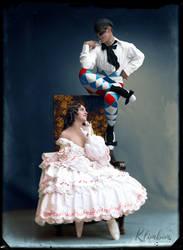 Mikhail Fokin and Vera Fokina, Le carnaval, 1914 by klimbims