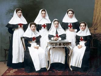 Russian nurses, WWI by klimbims